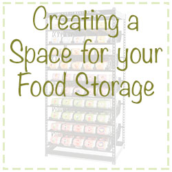 creating space for food storage